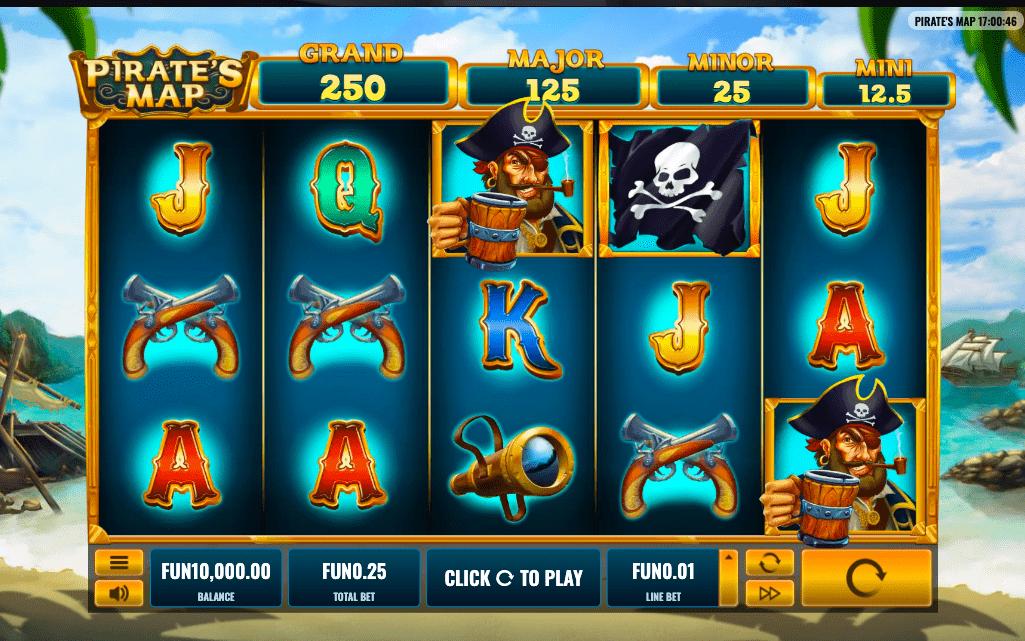 pirates map slot