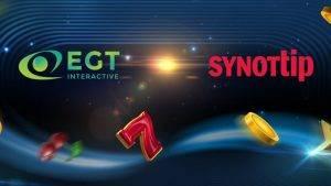 партнерство с egt interactive synottip