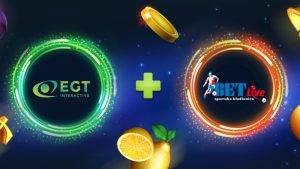 партнерство egt interactive bet-live