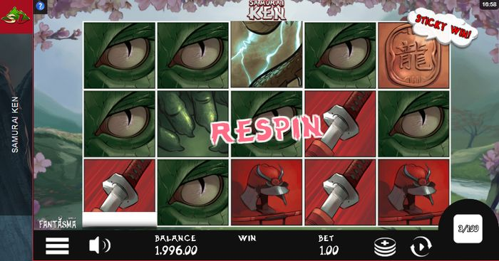samurai ken slot: re-spin