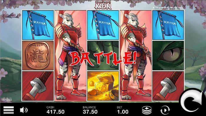 samurai ken slot: 3 scatters