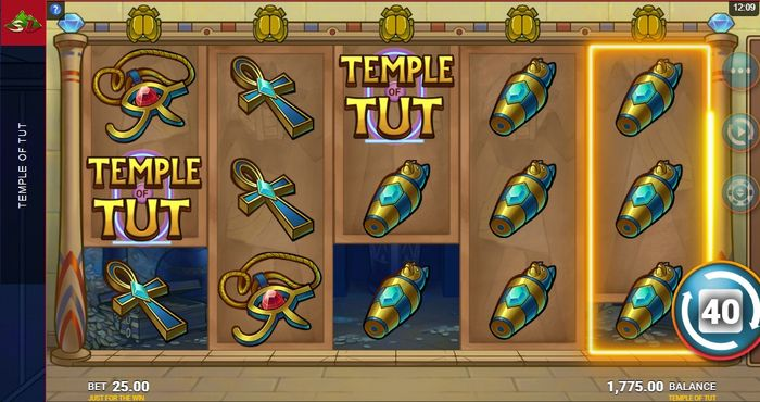 super reels in temple of tut slot