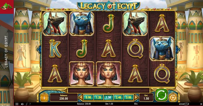play field of legacy of egypt slot