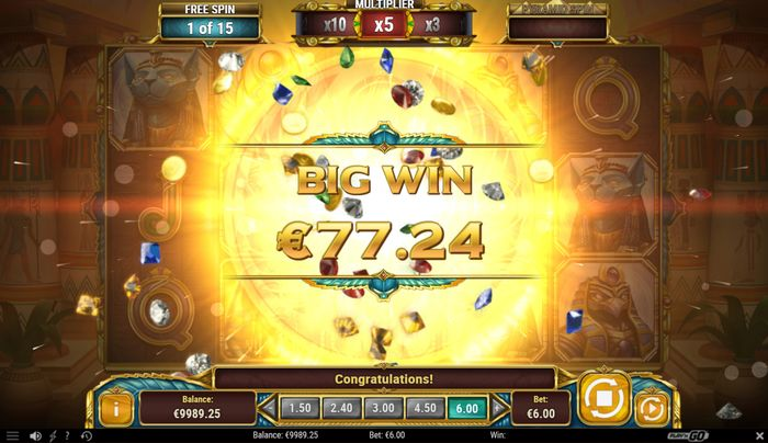 legacy of egypt slot: big win