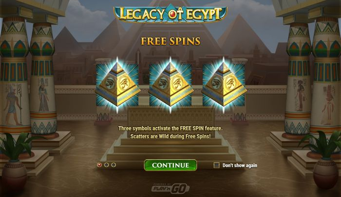 legacy of egypt slot: free spins