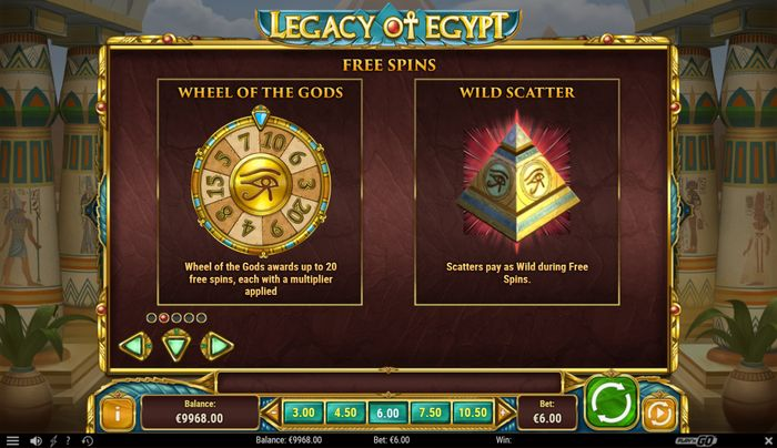 legacy of egypt: wheel of the gods