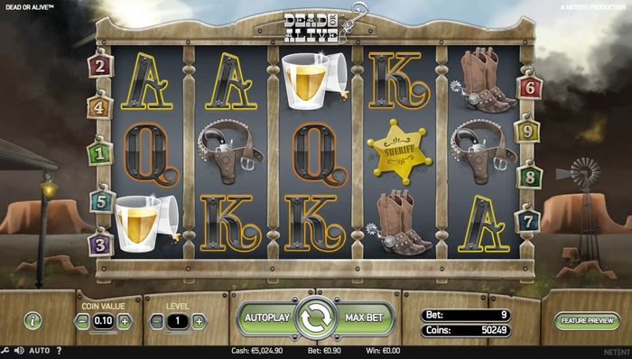 dead or alive slot: main game