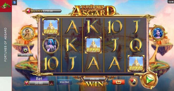 3 bonus symbols in fortunes of asgard slot
