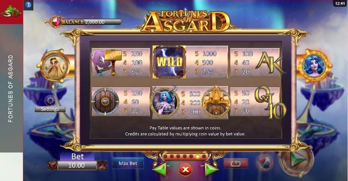 fortunes of asgard slot: symbols
